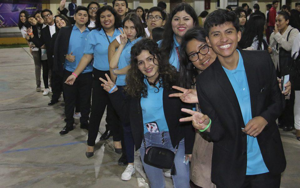 Estudiantes de la Facultad de Derecho y Ciencias Políticas, de la UCSS