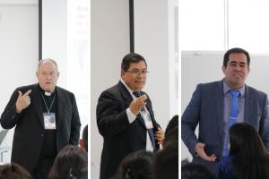 Rector y profesores UCSS en el II Congreso de Universidades Católicas