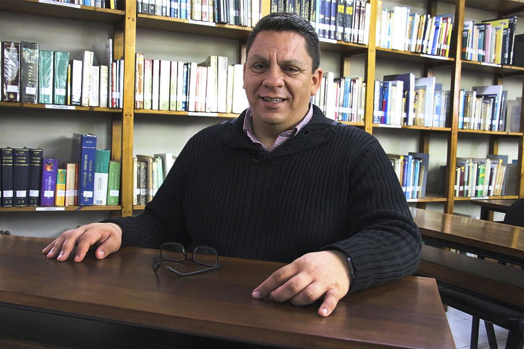 Director de la Biblioteca Central UCSS, Lic. Igor Navarro