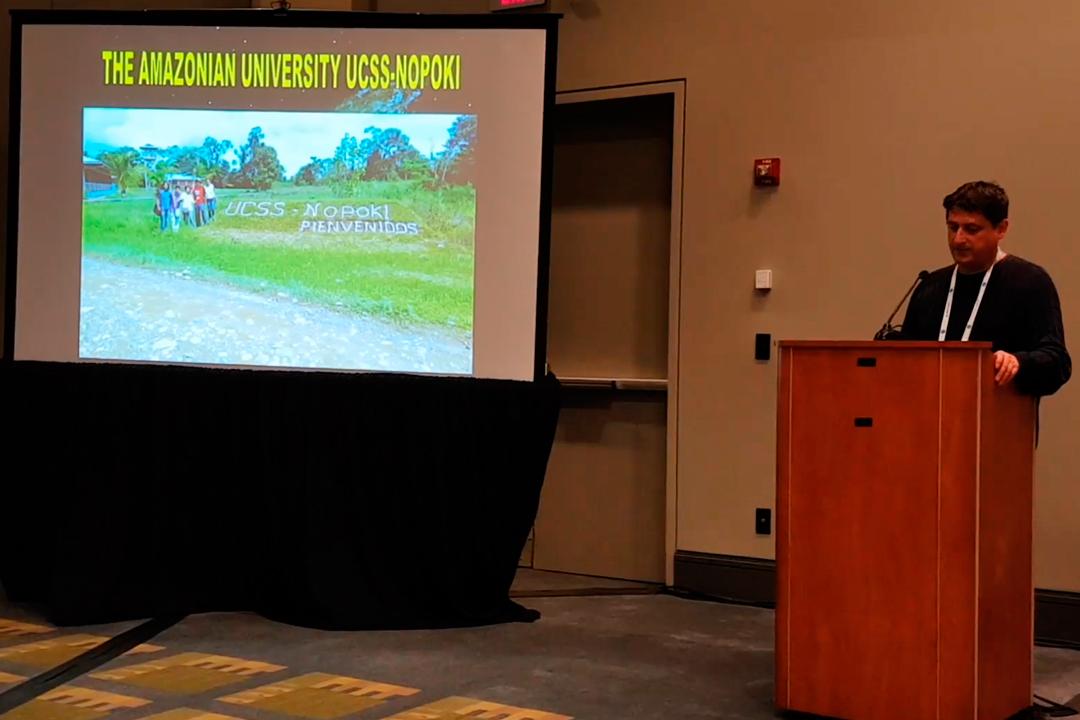 Proyecto UCSS Nopoki estuvo presente en congreso internacional en Washington, Estados Unidos