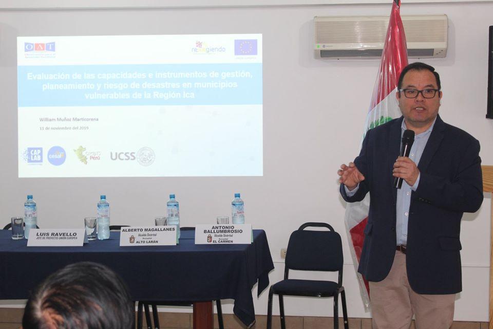 Director de Investigación de la FCEC presentó plan estratégico a municipalidades de distritos de Chincha y Pisco