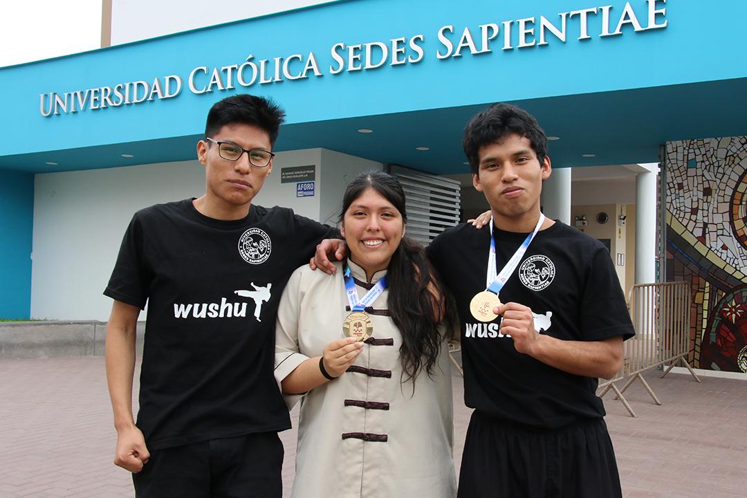 Estudiantes UCSS obtienen medallas de oro en Campeonato Nacional Universitario de Wushu